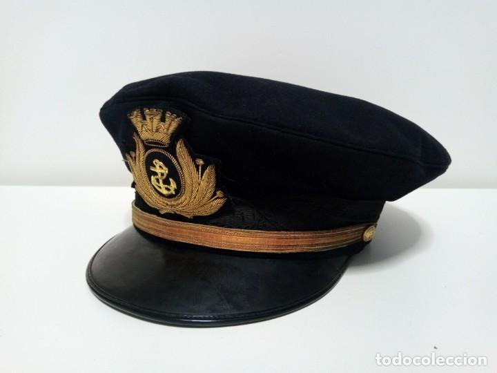 GORRA DE PLATO DE LA MARINA ITALIANA (DANI LIVORNO - A. PRINETTI GENOVA) (Militar - Boinas y Gorras )