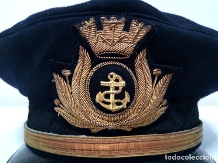 Militaria: Gorra de plato de la Marina Italiana (Dani Livorno - A. Prinetti Genova) - Foto 4 - 179082652