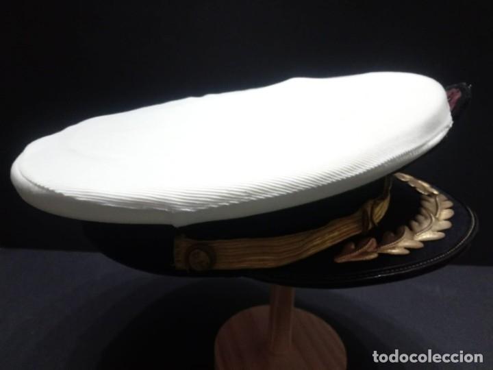 Militaria: Gorra de plato armada - marina española de Jefe época Juan Carlos I - Foto 3 - 179108242