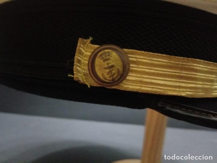 Militaria: Gorra de plato armada - marina española de Jefe época Juan Carlos I - Foto 4 - 179108242