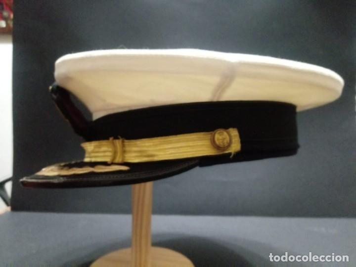 Militaria: Gorra de plato armada - marina española de Jefe época Juan Carlos I - Foto 8 - 179108242