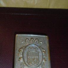 Militaria: ANTIGUA HEBILLA DE POLICIA MUNICIPAL DE L'HOSPITALET (BARCELONA) EN LA PARTE POSTERIOR DE LA HEBILLA. Lote 179147126