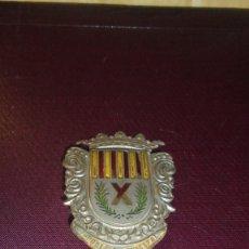 Militaria: ANTIGUA CHAPA DE POLICIA MUNICIPAL DE L'HOSPITALET ( BARCELONA ) 5,5X4,3 CM. CM. . Lote 179150183