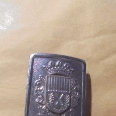 Militaria: ANTIGUA HEBILLA POLICIA MUNICIPAL HOSPITALET DE LLOBREGAT 6,5X5,3CM.. Lote 179315866