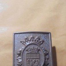 Militaria: ANTIGUA HEBILLA DE POLICIA MUNICIPAL D'HOSPITALET DEL LLOBREGAT PARTE POSTERIOR ESCUDO DE BARCELONA . Lote 179317890