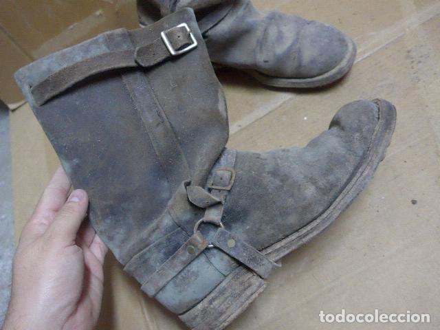 Militaria: * Antigua pareja de botas de la guerra civil, original. ZX - Foto 2 - 179950087