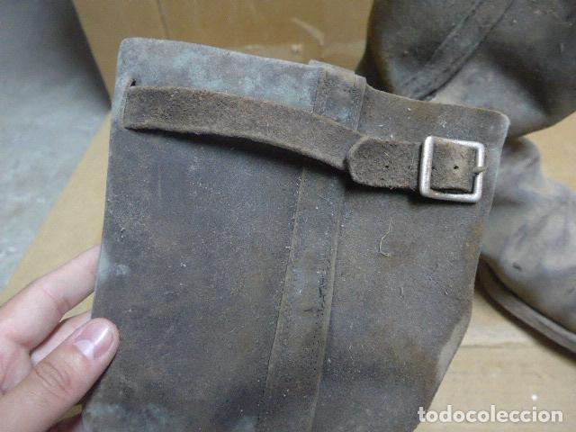 Militaria: * Antigua pareja de botas de la guerra civil, original. ZX - Foto 5 - 179950087