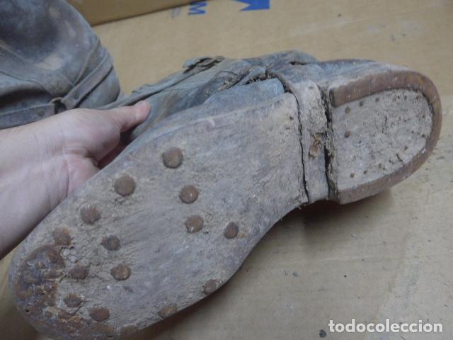 Militaria: * Antigua pareja de botas de la guerra civil, original. ZX - Foto 15 - 179950087