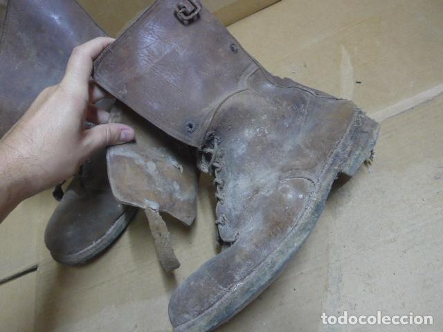 Militaria: * Antigua pareja de botas marrones republicanas de la guerra civil, original. ZX - Foto 2 - 179950391