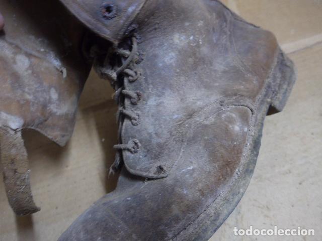 Militaria: * Antigua pareja de botas marrones republicanas de la guerra civil, original. ZX - Foto 4 - 179950391