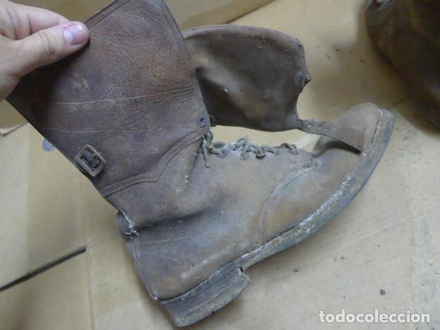 Militaria: * Antigua pareja de botas marrones republicanas de la guerra civil, original. ZX - Foto 17 - 179950391