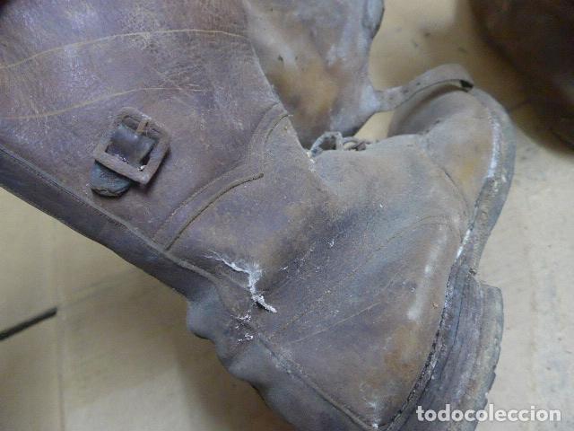 Militaria: * Antigua pareja de botas marrones republicanas de la guerra civil, original. ZX - Foto 18 - 179950391