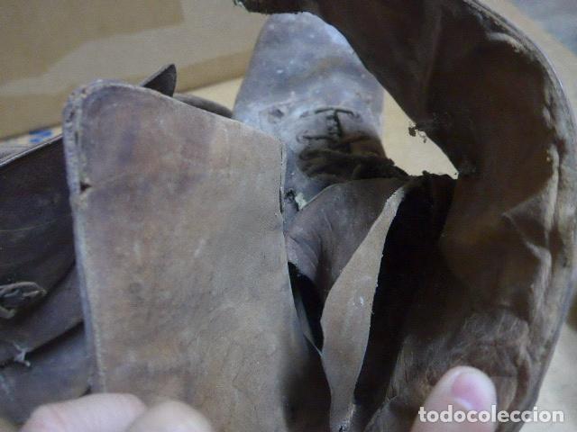 Militaria: * Antigua pareja de botas marrones republicanas de la guerra civil, original. ZX - Foto 21 - 179950391
