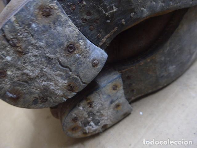 Militaria: * Antigua pareja de botas marrones republicanas de la guerra civil, original. ZX - Foto 24 - 179950391
