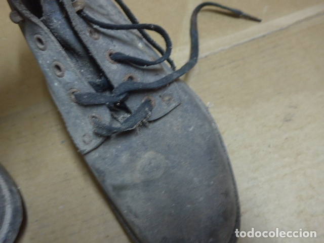 Militaria: * Antigua pareja de botas o botines de la guerra civil, original. ZX - Foto 11 - 179951165