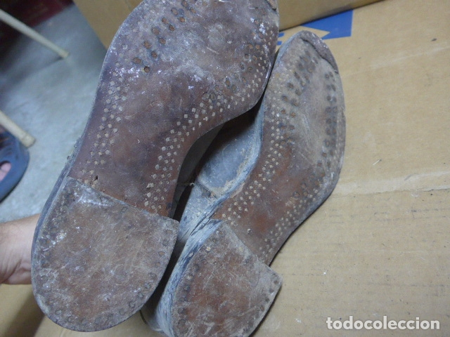 Militaria: * Antigua pareja de botas o botines de la guerra civil, original. ZX - Foto 15 - 179951165