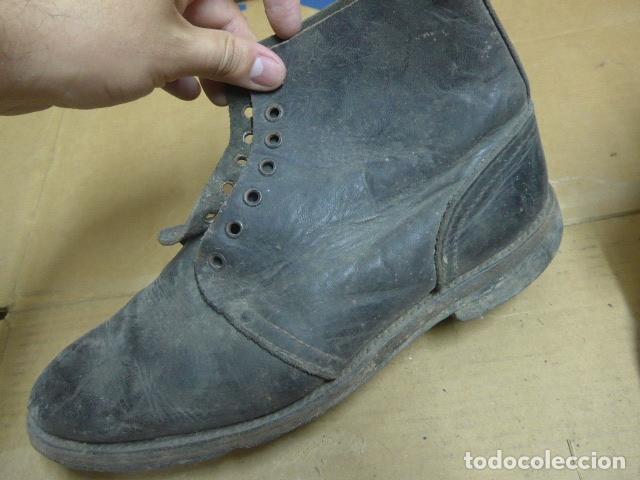 Militaria: * Antigua pareja de botas o botines, tipo de la guerra civil, original. ZX - Foto 6 - 179952520