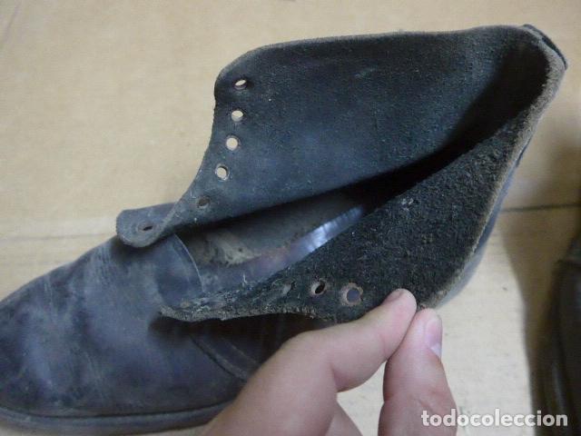 Militaria: * Antigua pareja de botas o botines, tipo de la guerra civil, original. ZX - Foto 7 - 179952520