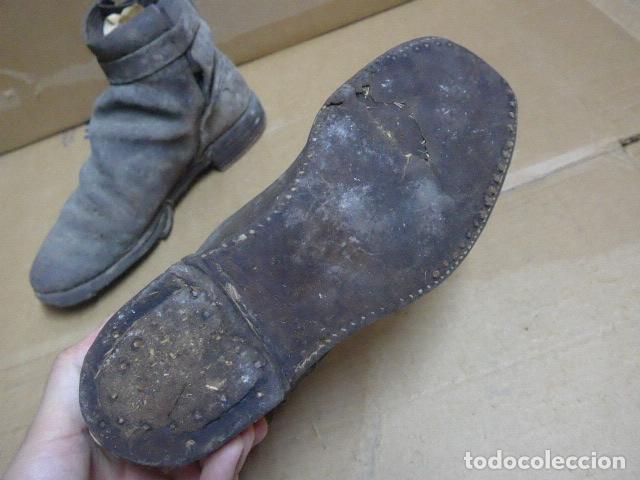 Militaria: * Antigua pareja de botas o botines de la guerra civil, original. ZX - Foto 7 - 179952797