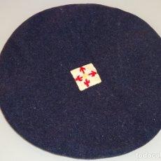 Militaria: ANTIGUA GORRA BOINA DE BOYSCOUTS. SCOUTS DE ESPAÑA. TALLA 55 APROX. 60 GR. Lote 180132257