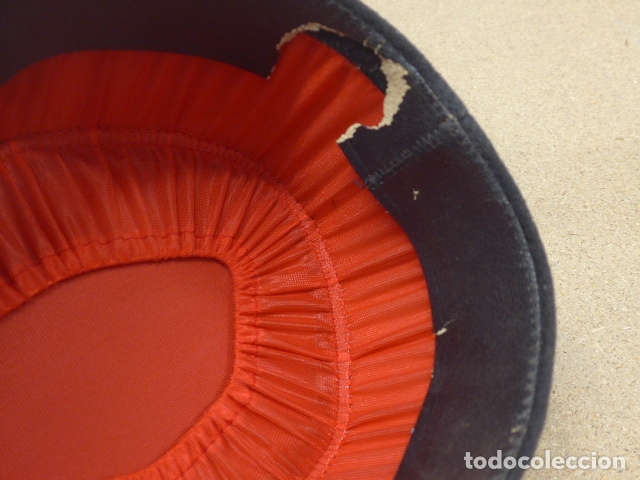 Militaria: Antigua gorra kepi frances bordado en plateado, original. Francia. - Foto 9 - 180415233