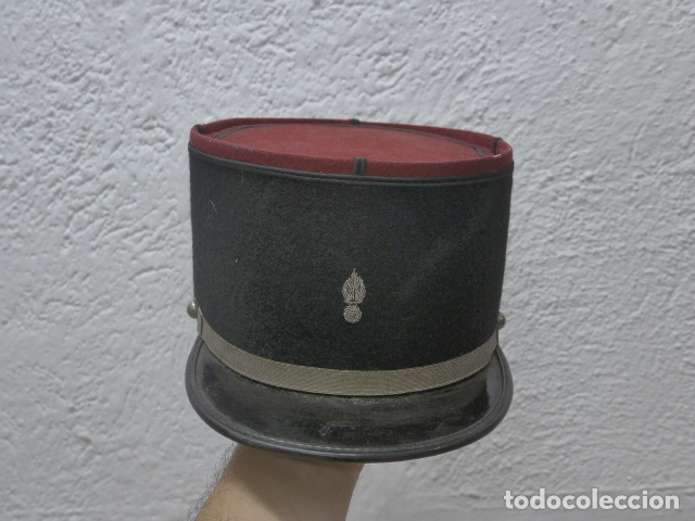 ANTIGUA GORRA KEPI FRANCES BORDADO EN PLATEADO, ORIGINAL. FRANCIA. (Militar - Boinas y Gorras )