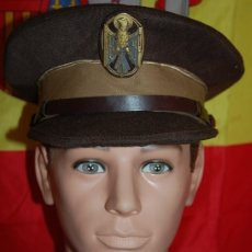 Militaria: GORRA DE PLATO POLICIA NACIONAL/GORRA POLICIA TRANSICIÓN (MARRONES) AÑOS 70. Lote 181103870