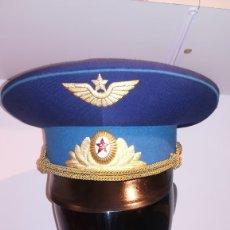 Militaria: GORRA MILITAR RUSA DE PLATO OFICIAL AVIACION. Lote 181435996