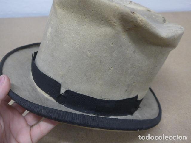 Militaria: Antiguo gorro o sombrero español, tipo de copa, Años 30 - 40. Original. - Foto 2 - 181568000