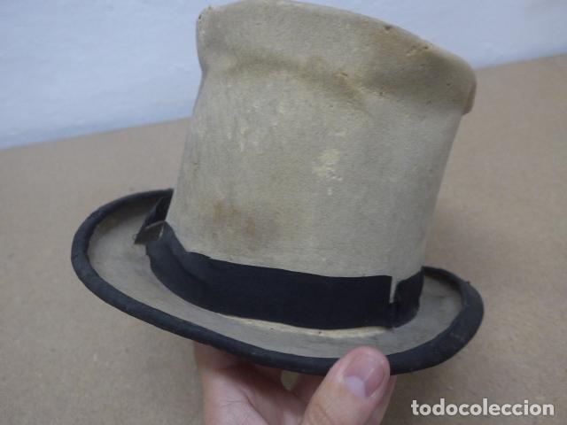 Militaria: Antiguo gorro o sombrero español, tipo de copa, Años 30 - 40. Original. - Foto 3 - 181568000