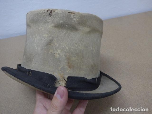 Militaria: Antiguo gorro o sombrero español, tipo de copa, Años 30 - 40. Original. - Foto 5 - 181568000