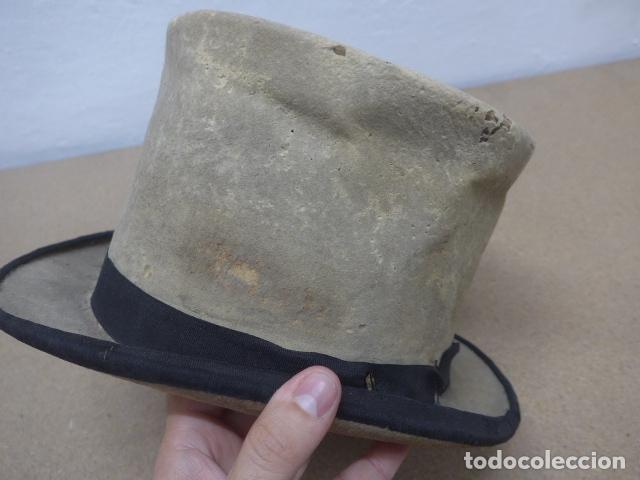 Militaria: Antiguo gorro o sombrero español, tipo de copa, Años 30 - 40. Original. - Foto 6 - 181568000