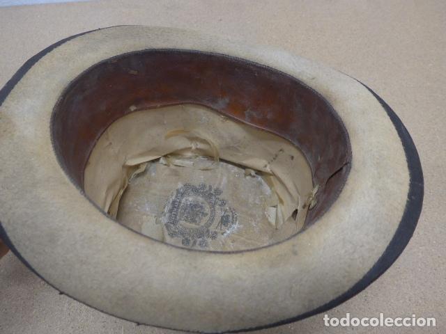Militaria: Antiguo gorro o sombrero español, tipo de copa, Años 30 - 40. Original. - Foto 10 - 181568000