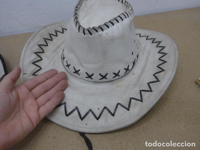Militaria: Lote 2 sombrero de cowboy en tela, del oeste. - Foto 2 - 181568243