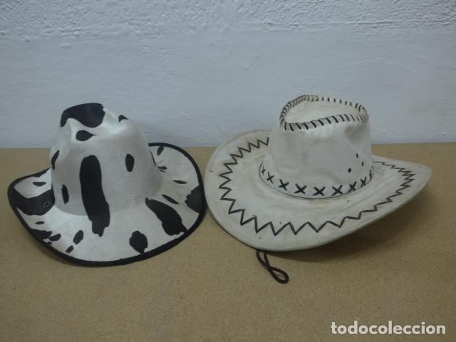 LOTE 2 SOMBRERO DE COWBOY EN TELA, DEL OESTE. (Militar - Boinas y Gorras )