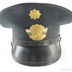 Militaria: ANTIGUO GORRO DE OFICIAL DE BOMBEROS AUTENTICO DE LA ERA COMUNISTA MUY BUEN ESTADO RARO. Lote 181999018
