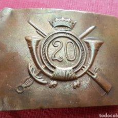 Militaria: HEBILLA INFANTERÍA FRANQUISTA 20 REGIMIENTO GUERRA CIVIL. Lote 182269593