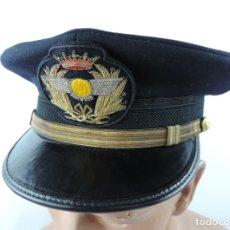 Militaria: GORRA DE PLATO DE GENERAL DE AVIACION, SANIDAD MILITAR, FABRICADA POR HIJOS DE JESUS MARTINEZ, MADRI. Lote 182470796