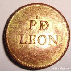 Militaria: BOTON PLAZA DE LEON MILICIAS PROVINCIALES 1802/1815. Lote 182706790