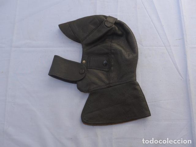 * ANTIGUO GORRO DE CUERO DE PILOTO AVIADOR O MOTORISTA, GUERRA CIVIL. ZX (Militar - Boinas y Gorras )