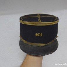 Militaria: ANTIGUO KEPI BORDADO REGIMIENTO 401 FRANCES, ORIGINAL, II GUERRA MUNDIAL. FRANCIA.. Lote 183492061