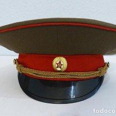 Militaria: GORRA DE PLATO DE OFICIAL DE INFANTERÍA URSS. Lote 184171241