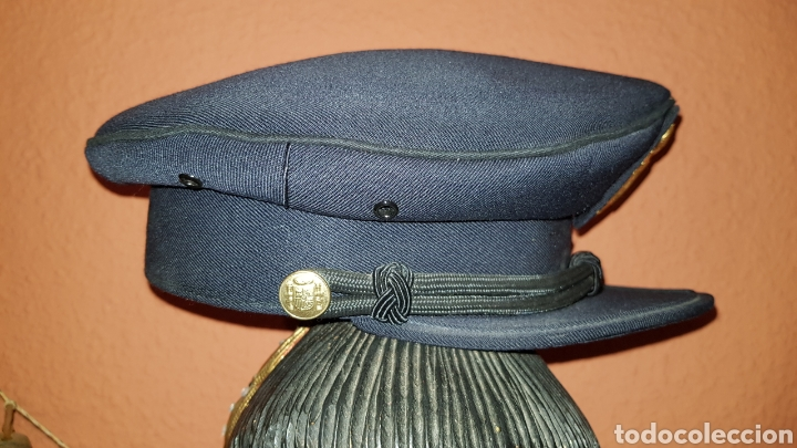 Militaria: ANTIGUA GORRA POLICIAL CUERPO NACIONAL DE POLICÍA ESCALA BÁSICA TALLA 56 EXCELENTE ESTADO - Foto 7 - 184473245
