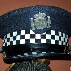Militaria: ANTIGUA GORRA PLATO DE POLICÍA LOCAL EN MUY BUEN ESTADO. Lote 184475226