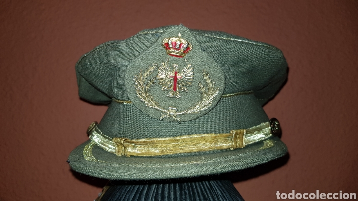 Militaria: GORRA PLATO DEL EJERCITO DE TIERRA ESCARAPELA CON LAURELES - Foto 2 - 184487118