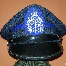 Militaria: ANTIGUA GORRA DE PLATO PLATO POLICÍA BÉLGICA. Lote 184488727