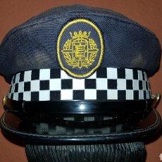 Militaria: ANTIGUA GORRA DE PLATO DE POLICÍA LOCAL. Lote 184488926