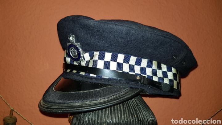 Militaria: ANTIGUA GORRA DE PLATO POLICÍA REINO UNIDO WEST YORKSHIRE POLICE GREAT BRITAIN - Foto 3 - 184489378