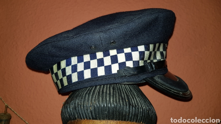 Militaria: ANTIGUA GORRA DE PLATO POLICÍA REINO UNIDO WEST YORKSHIRE POLICE GREAT BRITAIN - Foto 4 - 184489378