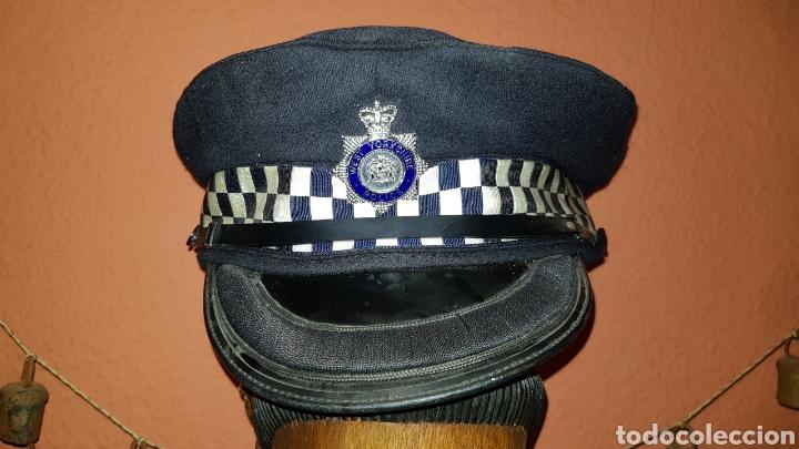 ANTIGUA GORRA DE PLATO POLICÍA REINO UNIDO WEST YORKSHIRE POLICE GREAT BRITAIN (Militar - Boinas y Gorras )